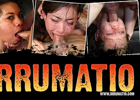 Irrumatio - thrusting our cocks down these whore's throats